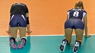 Volleyball Girls Cat Stretch Close Ups