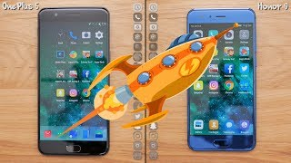 OnePlus 5 VS Huawei Honor 9 Speed Test: 200% Faster?[4K]