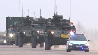 'Strength & Solidarity': US military convoy rolls through Europe