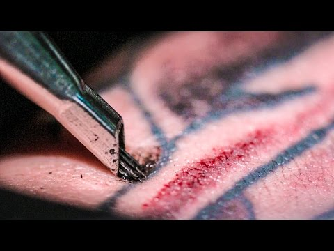 TATTOOING Close Up in Slow Motion Smarter Every Day 122
