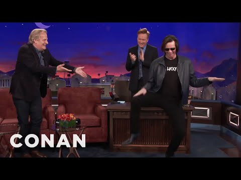 Jim Carrey Crashes Jeff Daniels CONAN Interview CONAN on TBS