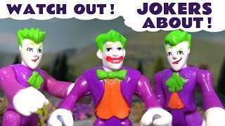Joker Escape and more Toy Stories with Batman and Superman Superhero Toys for Kids TT4U