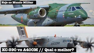 Embraer KC-390 vs Airbus A400M - Qual é o melhor?