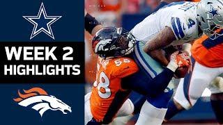 Cowboys vs. Broncos | NFL Week 2 Game Highlights