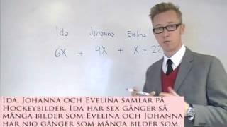 Problemlösning med ekvation