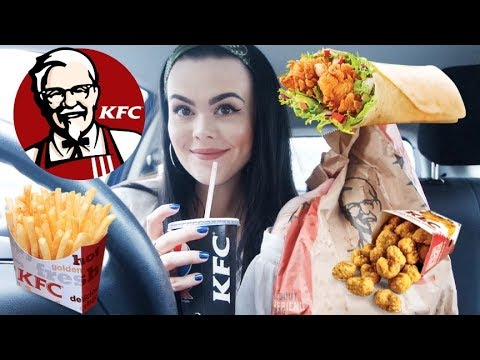 KFC DRIVE THRU MUKBANG TOASTED TWISTER WRAP + MY FIRST TV AUDITION STORYTIME