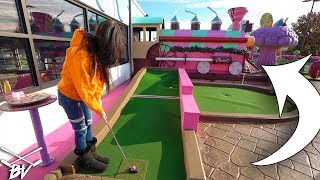 VOTED ONE OF THE BEST MINI GOLF COURSES IN THE WORLD! - CRAZY HOLE IN ONES AND SHOTS!