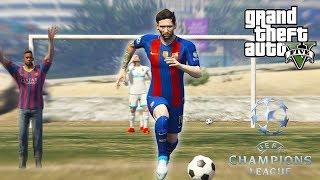 CHAMPIONS LEAGUE 2018 NO GTA V ! Futebol (GTA 5 MODS) Messi, Neymar, CR7