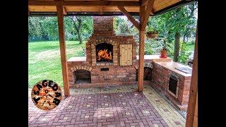 Zahradní krb s udírnou   stavba / DIY building outdoor fireplace with smoker and grill