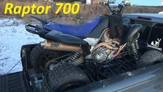 Adam's New Yamaha Raptor 700 , Also Hunting Stuff..