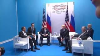 Putin points at journalists and asks Trump 'are these the ones hurting you ' during press conference