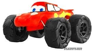 Trucks For Children Lightning Mcqueen Play Doh Stop Motion Disney Pixar Cars Toys trucks kids video