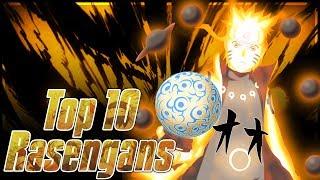 Top 10 Rasengans From Naruto Part1, Naruto Shippuden, & Boruto Next Generations!!! w/ ShinoBeenTrill