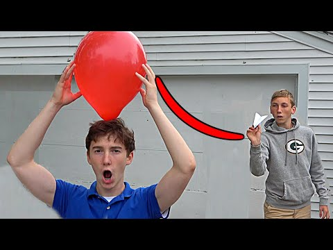 Paper Airplane Trick Shots 2 That s Amazing