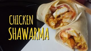 How to Make a Chicken Shawarma Wrap