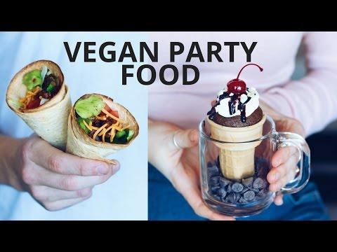 watch VEGAN PARTY FOOD RECIPES