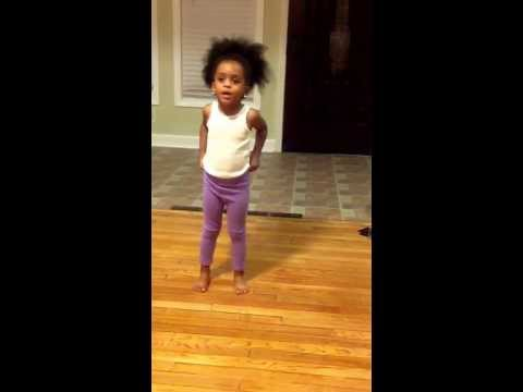3 year old Dance tutorial HEAVEN BREAKS HER BEYONCE CHOREOGRAPHY DOWN