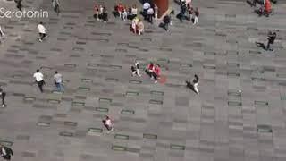 فجأة يتحول احد اكبر شوارع العاصمة الهولندية الى ساحة رقص ضخمه على انغام الواكا واكا