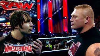 The Road to WrestleMania: Brock Lesnar vs. Dean Ambrose in a No Holds Barred Street Fight