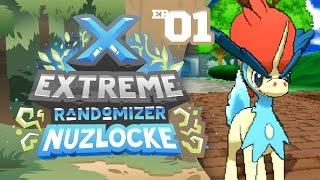 ANOTHER LEGENDARY STARTER POKEMON?! - Pokémon X Extreme Randomizer Nuzlocke w/ Supra! Episode #01