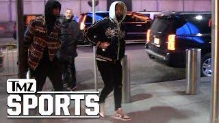 Odell Beckham Jr  Ditches Walking Boot for Knicks Game | TMZ Sports