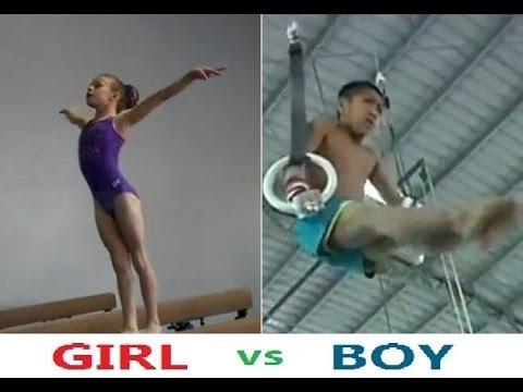 Gymnastics Expert Kids Challenge Girl VS Boy