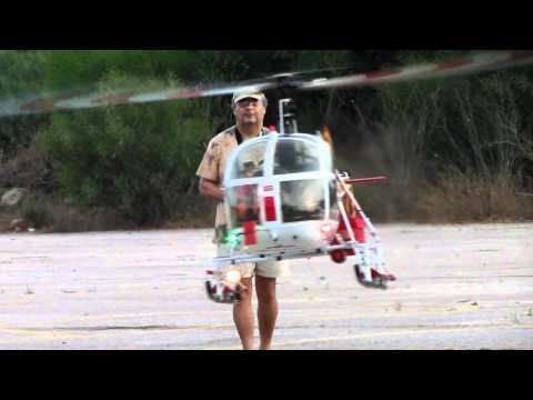 Vario Lama SA315B turbine rc helicopter Jojo flying.