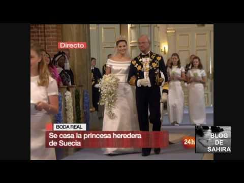 BODA DE VICTORIA DE SUECIA PRIMERAS IMAGENES EN LA IGLESIA 19 06 2010