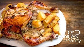 Pollo al horno con romero miel mostaza y limon en recetas de cocina faciles con pollo
