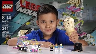 ICE CREAM MACHINE - LEGO MOVIE Set 70804 - 2-in-1 Time-lapse Build, Stop Motion, Unboxing & Review!