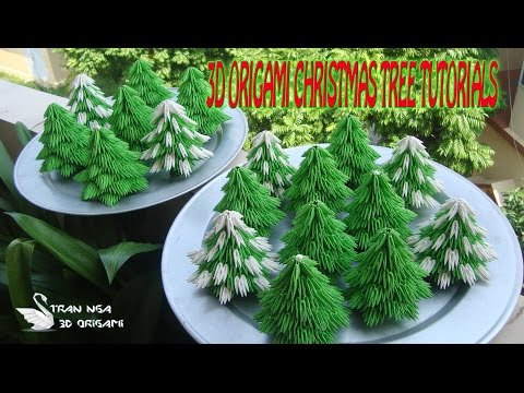 HOW TO MAKE 3D ORIGAMI CHRISTMAS TREE |PAPER  CHRISTMAS TREE DECORATION TUTORIALS