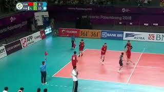 Pakistan Vs China Volleyball Winning Point 2018 Asian Games Jakarta