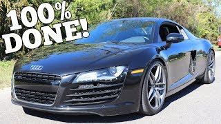 My Salvage Auction Audi R8 is Completely Rebuilt! Time for it