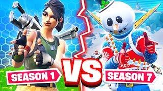 SEASON 1 VS SEASON 7 WEAPON CHALLENGE *NEW* Game Mode in Fortnite Battle Royale