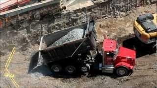 Kenworth T800 dumping rock