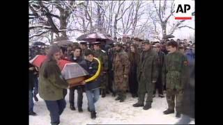 KOSOVO: 2000 ATTEND KLA FUNERAL