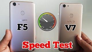 Vivo V7 vs Oppo F5 Speed test Comparison