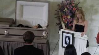 leverage 2x07 Parker being Parker at Sophie's (fake) funeral