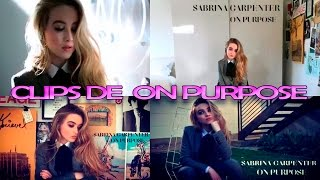 Clips de On Purpose, Sabrina dio RT a los vídeos
