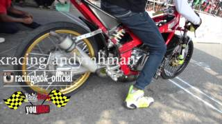 Drag bike Kebumen | kawasaki ninja tu 155 FFA MD racing VS ABRT | spesial Creampie muffler PJRM