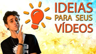 Como ser mais Criativo: Dicas de ideias para vídeo   Escola para youtubers