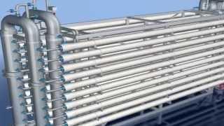Horizontal dead end UF filtration pressure vessel