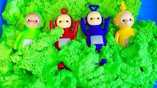 TELETUBBIES TOYS Green Kinetic Sand Dig and Search Game!