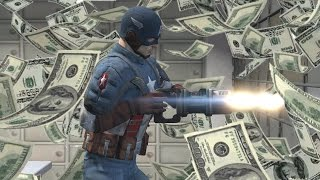 KAPTAN AMERİKA İLE BANKA SOYMAK (GTA 5)
