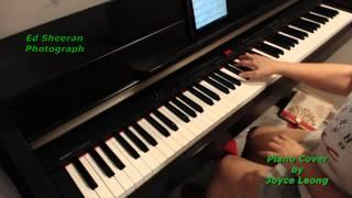 Ed Sheeran - Photograph - Piano cover and sheets