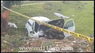 Chofer de auto fallece en aparatoso accidente, en la Morelia-Pátzcuaro