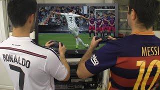 Cristiano Ronaldo vs. Messi - Play FIFA 17   In Real Life!