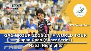 Japan Open 2015 Highlights: Shang Kun Vs Maharu Yoshimura (1/2 Final)