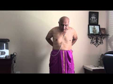 How to wear Indian Pant (dhotar, sohale) - Part 1