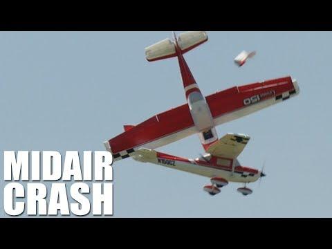 E Flite Cessna 150 MIDAIR CRASH